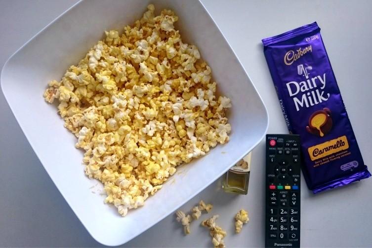 Cheesy Truffle Popcorn